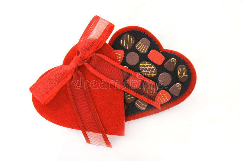 Download Valentine Day Candy Heart Box Stock Image - Image of cupid, gilded: 470511