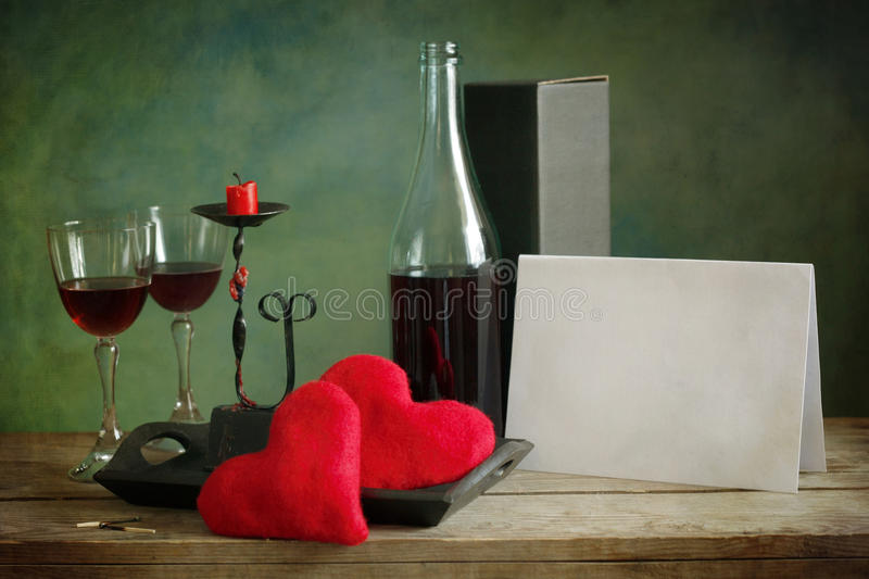 Valentine Day card stock photography