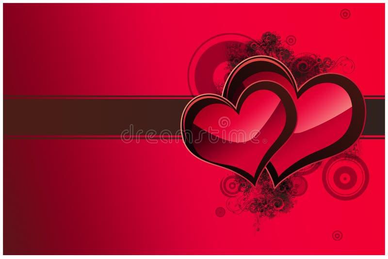 Valentine day card stock image