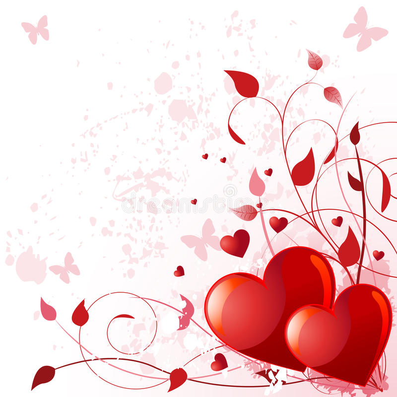 Valentine day card stock illustration