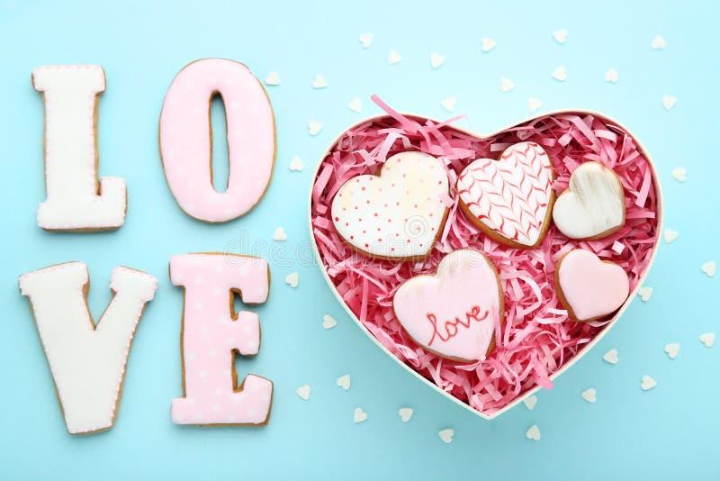 Valentine day cookies stock photo
