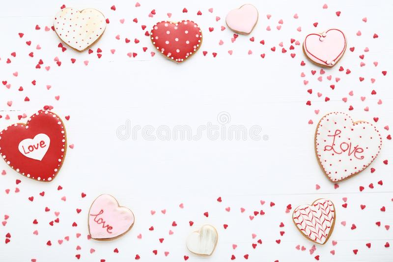 Valentine day cookies royalty free stock photography