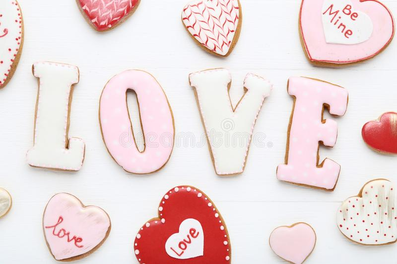 Valentine day cookies stock images