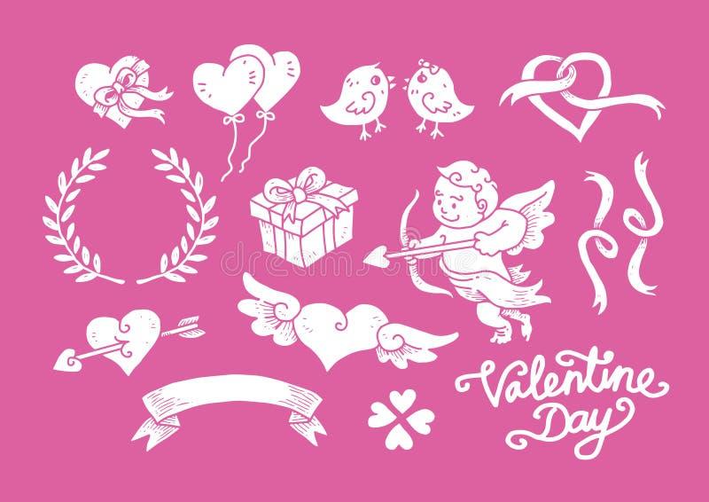 Valentine Day Doodle Set 2 images libres de droits