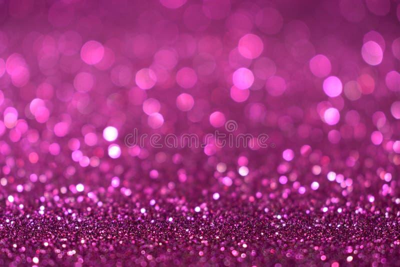 Valentine Day för det nya året för jul blänker violetta rosa färger bakgrund Tyg för ferieabstrakt begrepptextur Beståndsdel expo arkivfoto