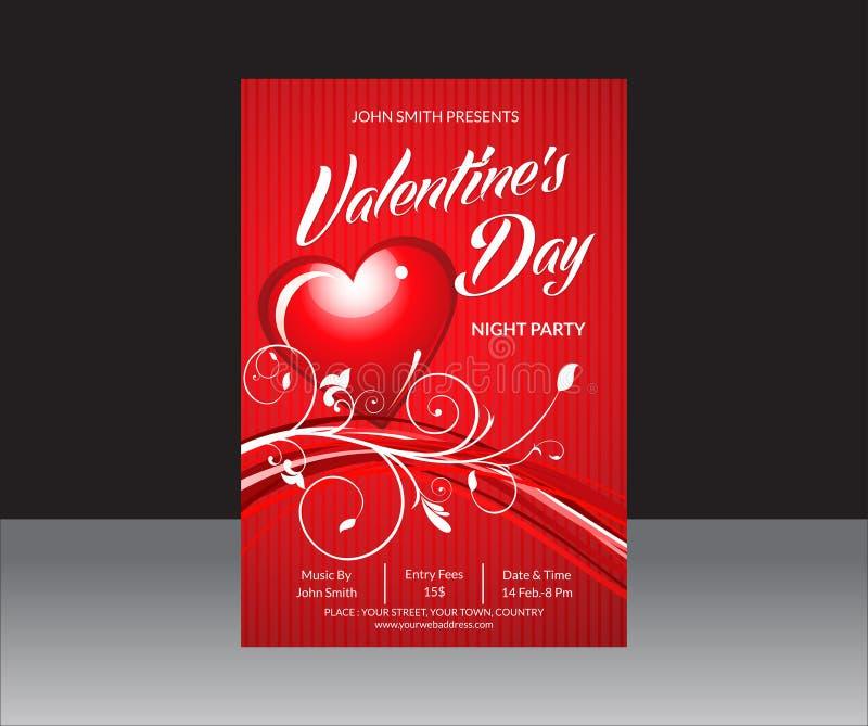 Valentine Day Flyer abstracto ilustración del vector