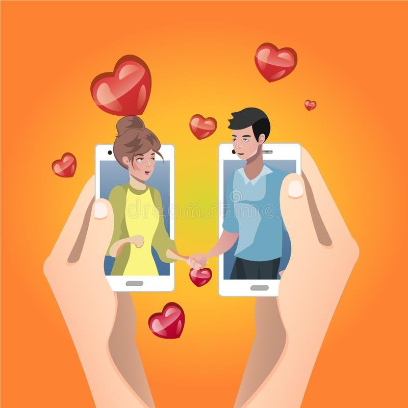 Valentine Day Gift Card ilustração royalty free