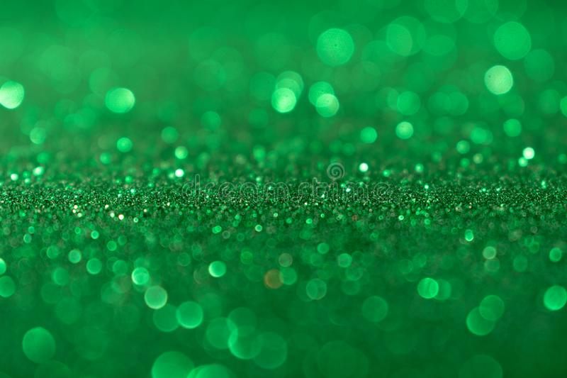 Valentine Day Green Glitter för nytt år för jul bakgrund Tyg för ferieabstrakt begrepptextur Beståndsdel exponering royaltyfri bild