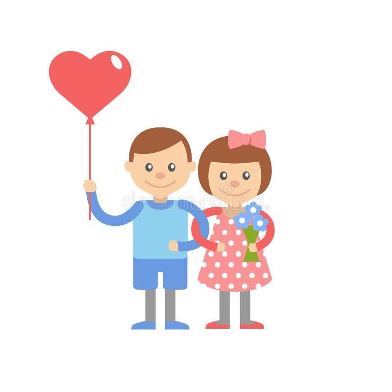 Valentine Day Greeting Card illustrazione vettoriale
