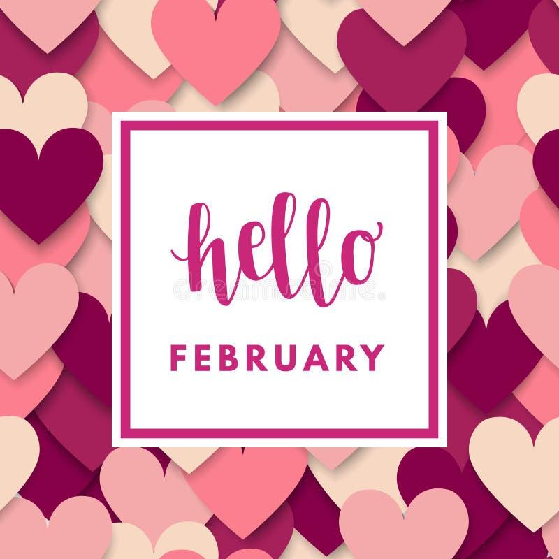 Valentine Day Greeting Card ilustração royalty free
