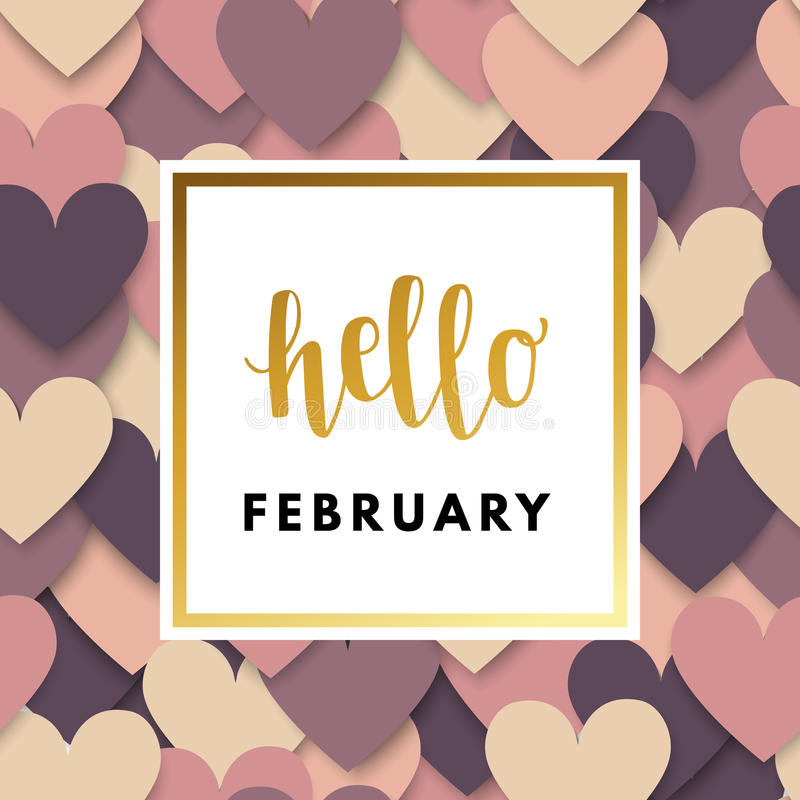 Valentine Day Greeting Card ilustração do vetor
