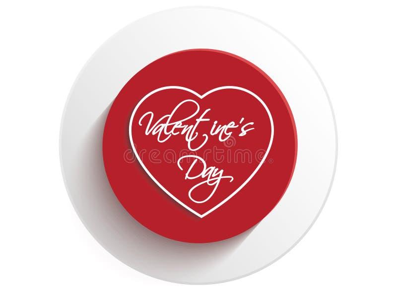 Valentine Day Heart Button ilustração royalty free