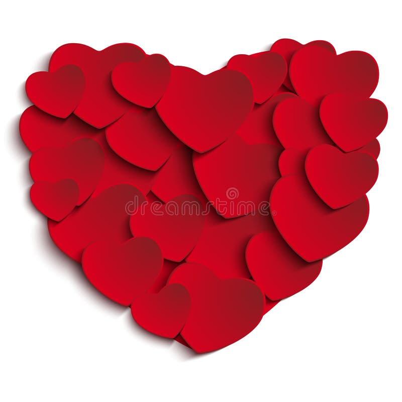 Valentine Day Heart no fundo branco ilustração stock