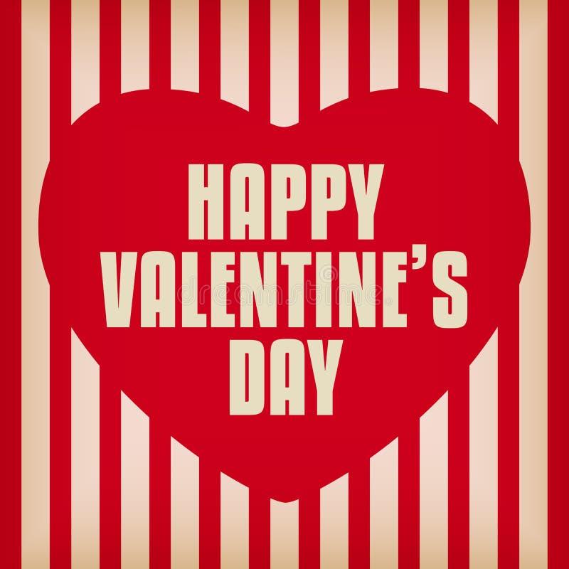Valentine Day Heart no fundo retro ilustração royalty free