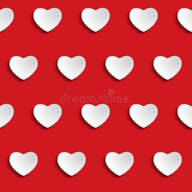 Valentine Day Heart Seamless Pattern-Achtergrond royalty-vrije illustratie