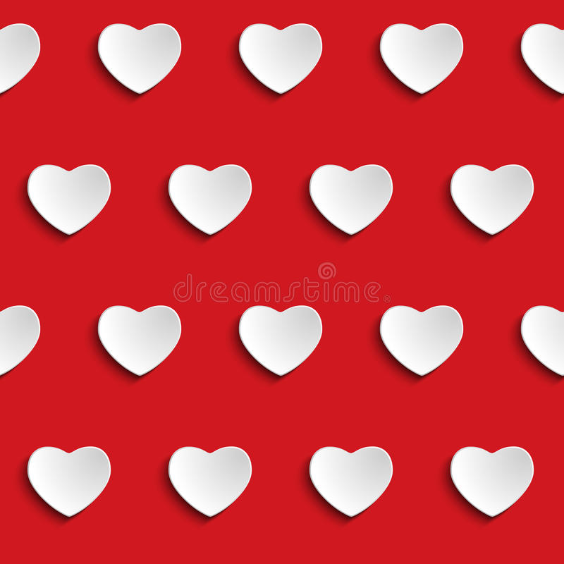 Free Valentine Day Heart Seamless Pattern Background Stock Photos - 34049403