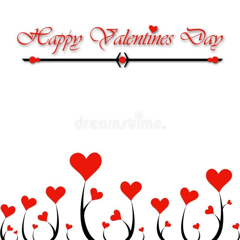 Valentine Day hearts royalty free illustration