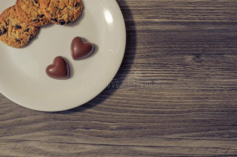 Valentine day holiday event birthday fast food snack child sugar addiction fast food concept. Top above overhead close up view pho stock photos
