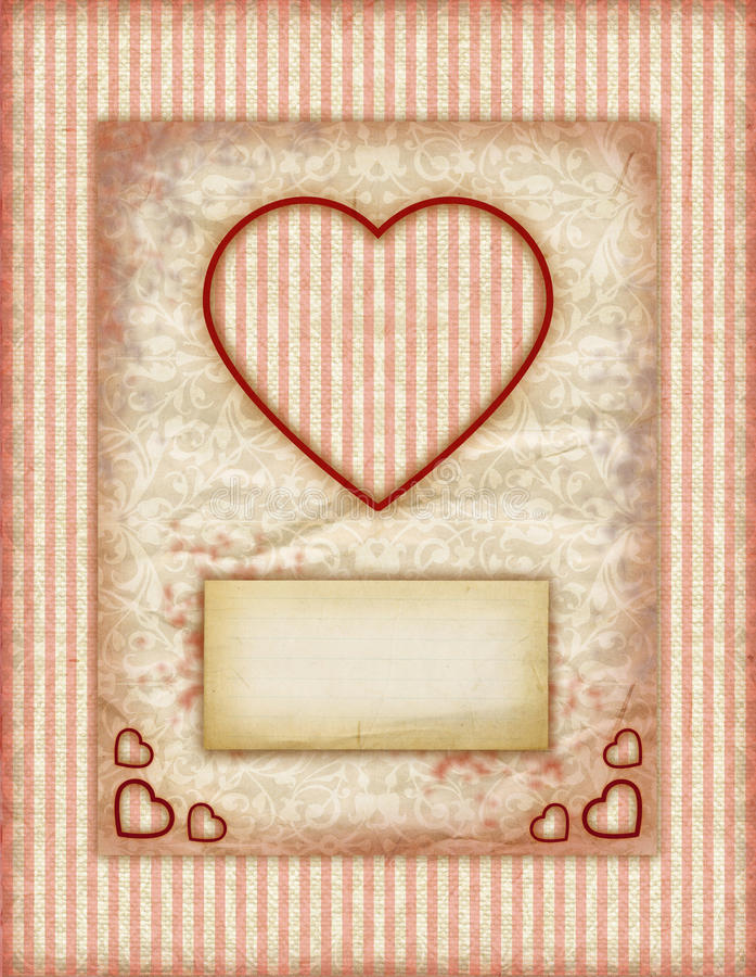 Download Valentine Day Love Cards, Vintage Love Notes Stock Illustration    Illustration Of Happy,