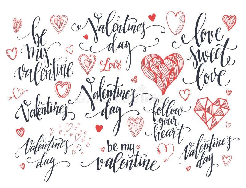 Valentine Day och förälskelse som märker samlingen också vektor för coreldrawillustration vektor illustrationer