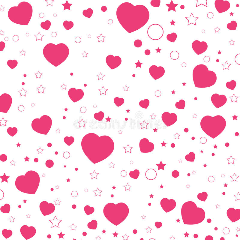 Valentine Day och rosa hjärta som isoleras på vit bakgrund VektorValentine Day bakgrund arkivbilder
