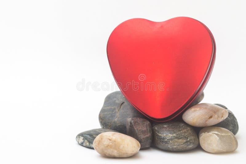 Valentine Day Red Heart Box royaltyfria foton