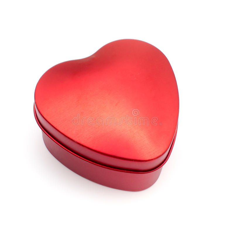 Valentine Day Red Heart Box photos stock