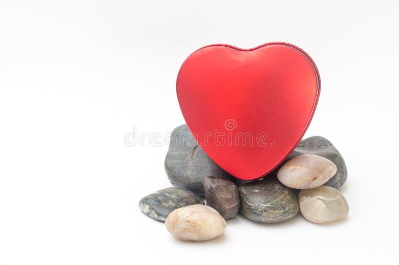 Valentine Day Red Heart Box fotografering för bildbyråer
