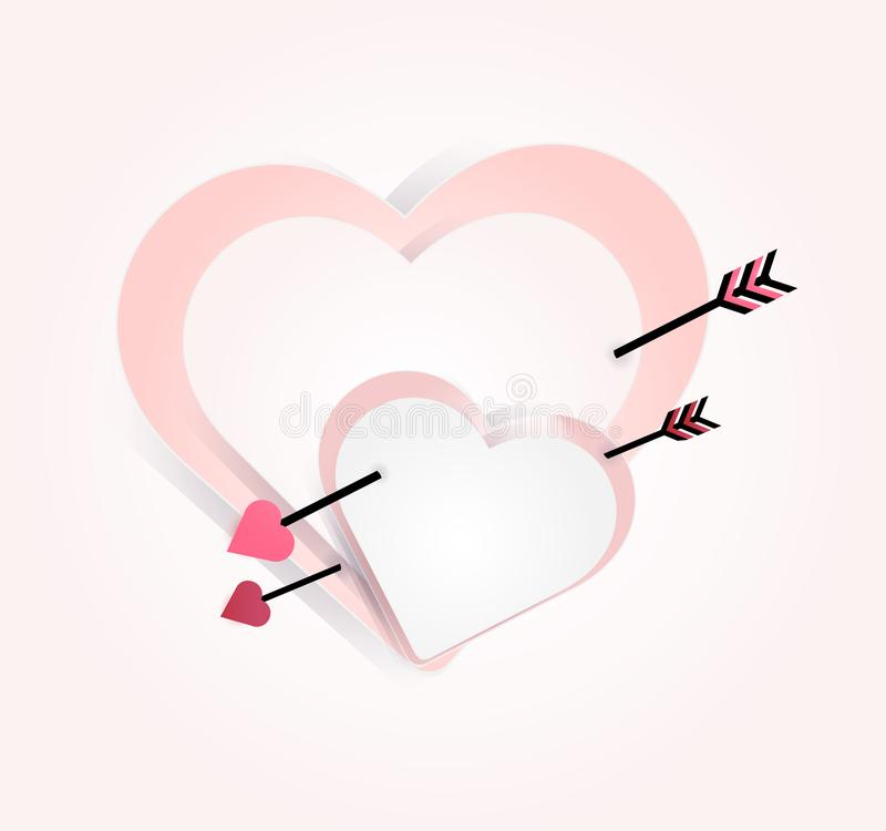 Valentine day sale on vivid background with varicolored mini heart icon, type happy and love to promote banner ads board and flat royalty free illustration