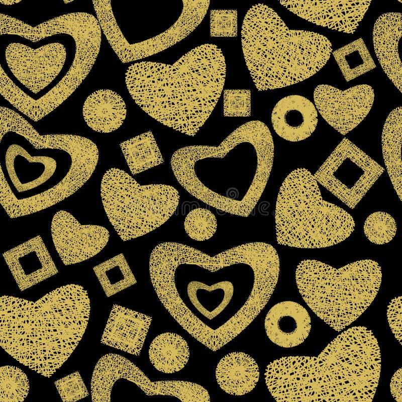 Valentine day seamless background pattern stock photography