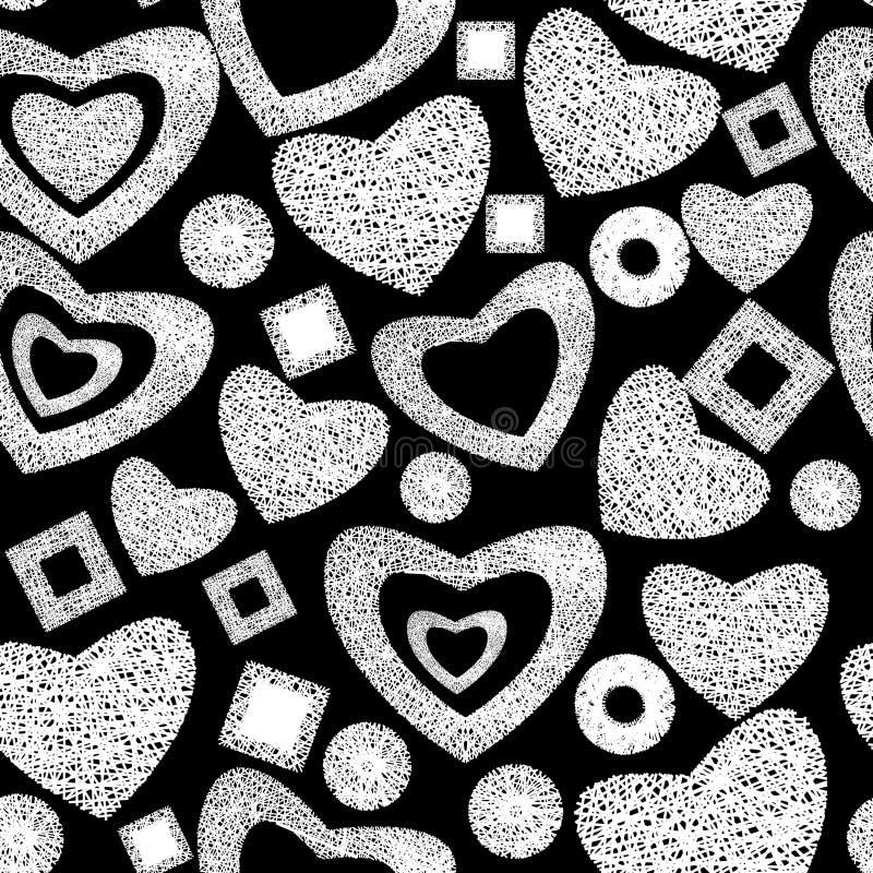 Valentine day seamless background pattern stock image