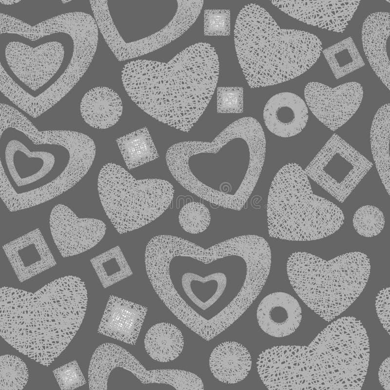 Valentine day seamless background pattern stock photos