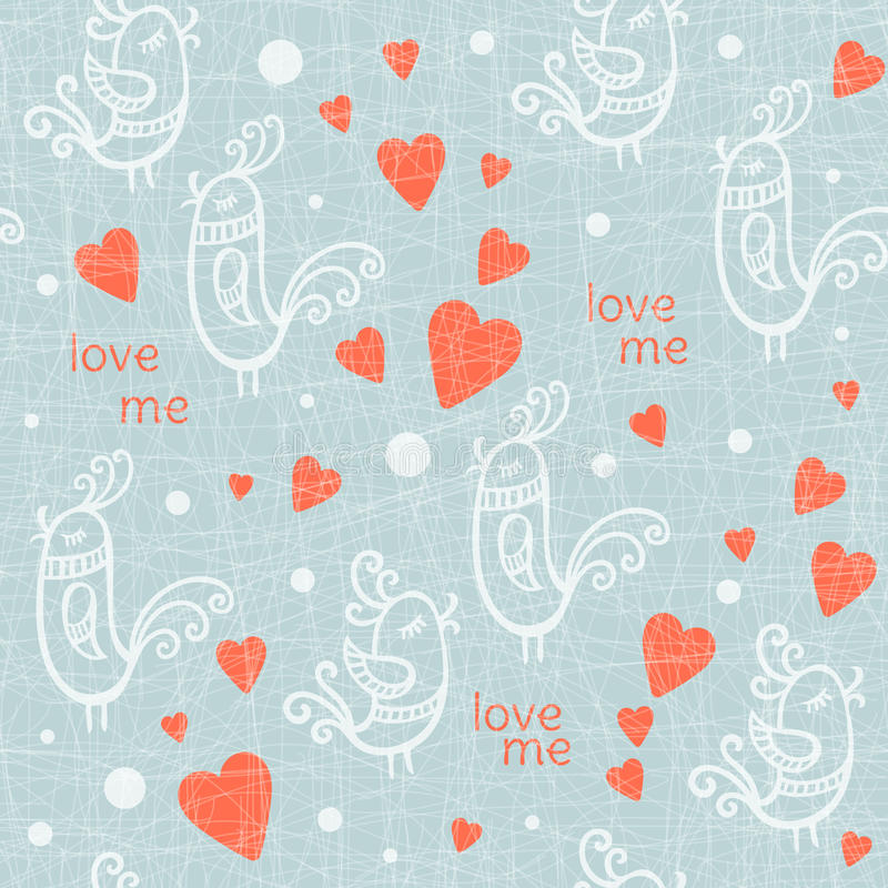 Valentine Day seamless with birds. Vector. Valentine Day seamless pattern with birds. Vector illustration vector illustration