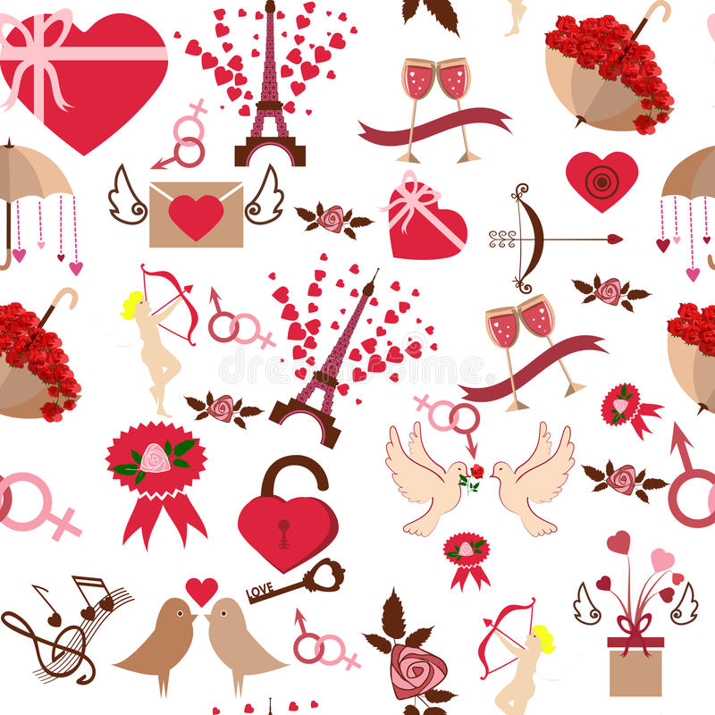 Download Valentine Day Seamless Pattern Vector Illustration Stock Vector - Illustration of beautiful, holiday: 83716057
