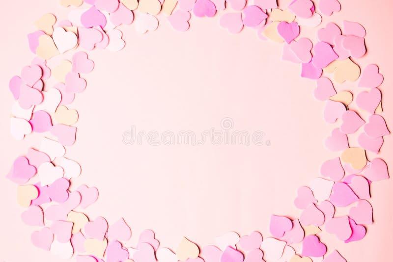 Valentine Day, Symbole der Liebe für glückliche Frauen, Mutter, Valentinstags, Geburtstagsgruß-Kartenentwurf stockbilder