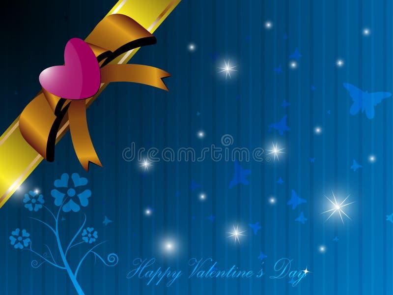 Valentine-de achtergrond van de giftdoos stock illustratie