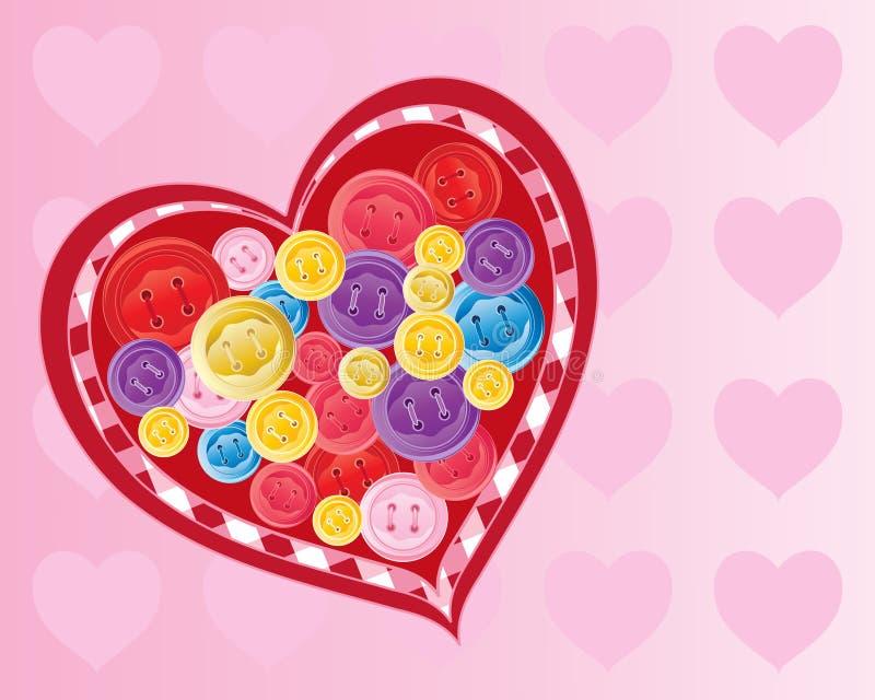 Valentine de bouton illustration de vecteur