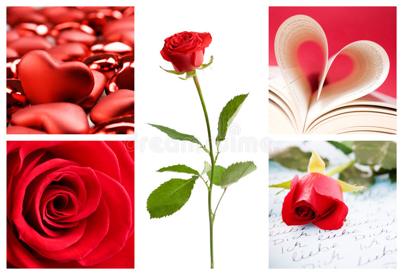 valentine de collage photos libres de droits