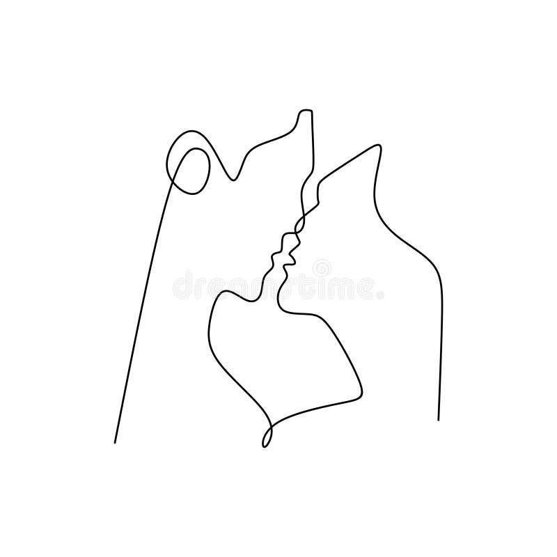 Valentine De Couples Avec Un Continu Simple Concept