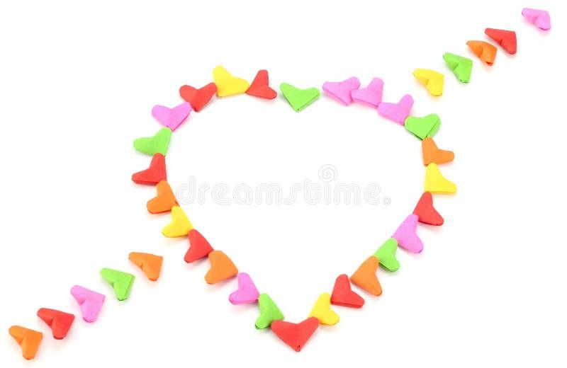 Valentine de forme de coeur d'origami orientée photographie stock