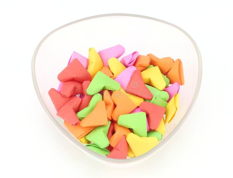 Valentine de forme de coeur d'origami orientée photos stock