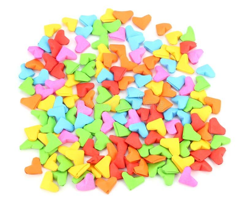 Valentine de forme de coeur d'origami orientée image libre de droits