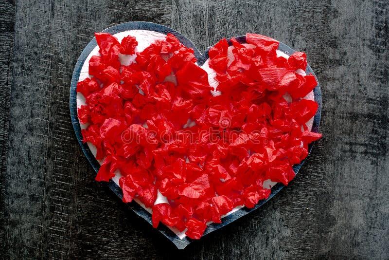 Valentine-de liefde Romaanse hartstocht van het dag rode hart royalty-vrije stock afbeeldingen