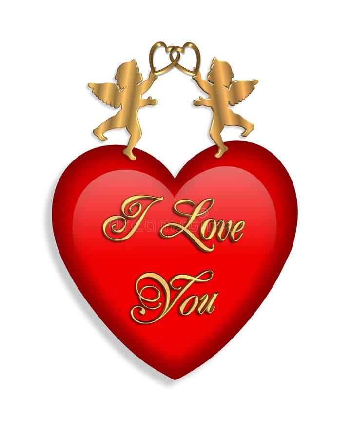 valentine de rouge de coeur illustration stock
