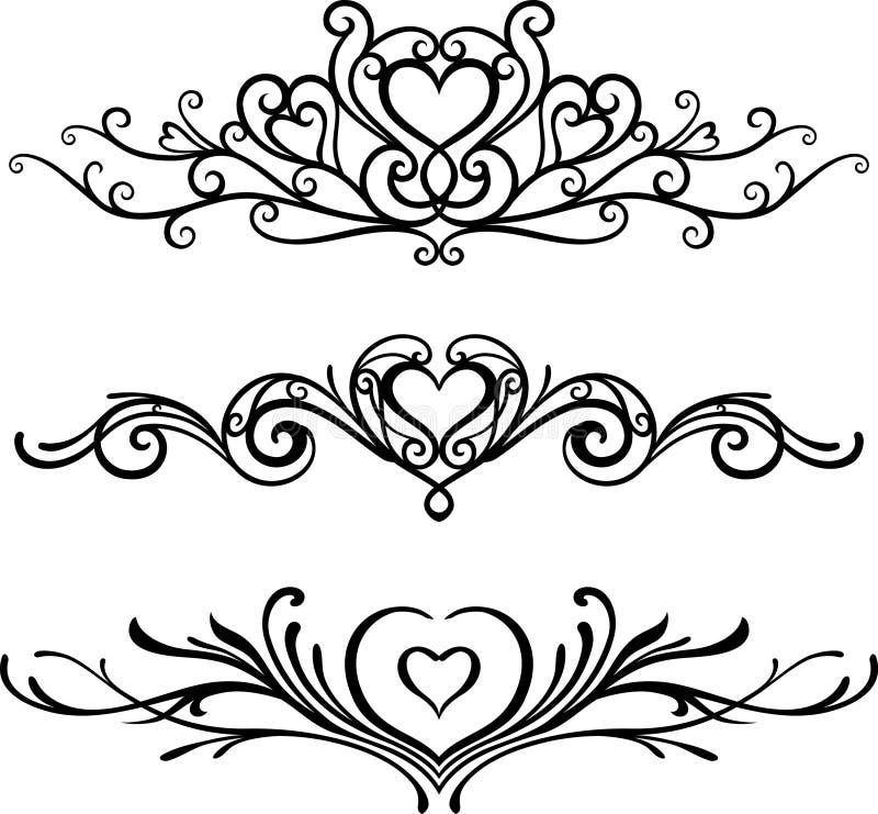 Valentine Decorative Ornament ilustração stock