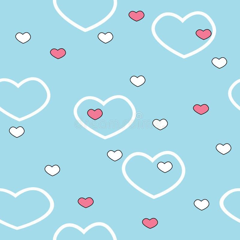 valentine deseniowy bezszwowy wektor ilustracji