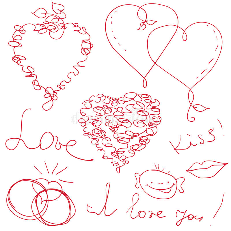 Download Valentine Design Elements Royalty Free Stock Photography - Image: 22841247
