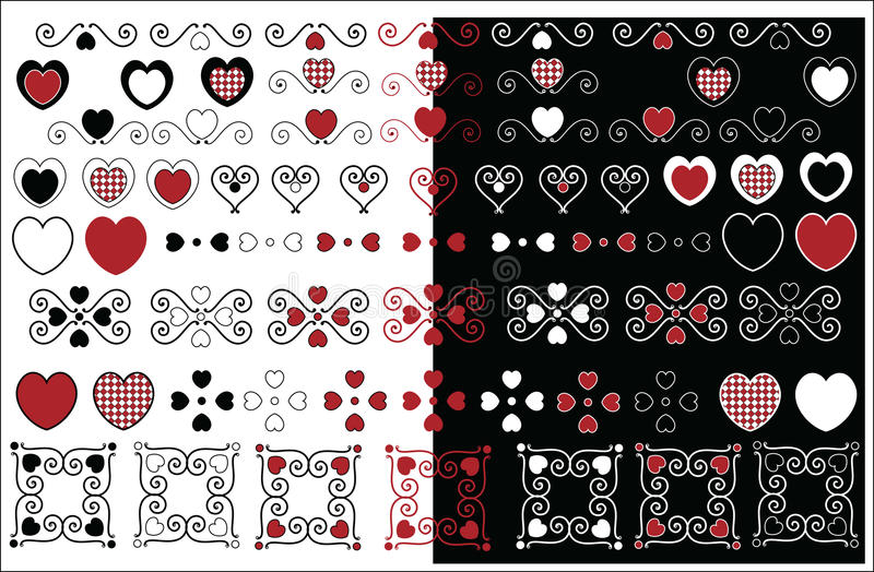 Valentine Designs With Gingham Trim royalty free stock photos