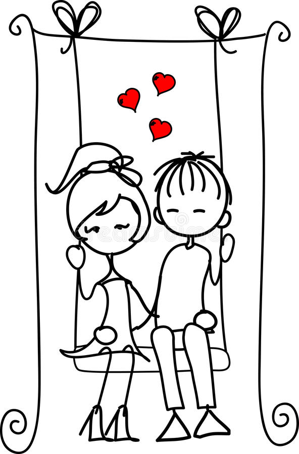 Download Valentine Doodle Boy And Girl ,vector Royalty Free Stock Image - Image: 22589746