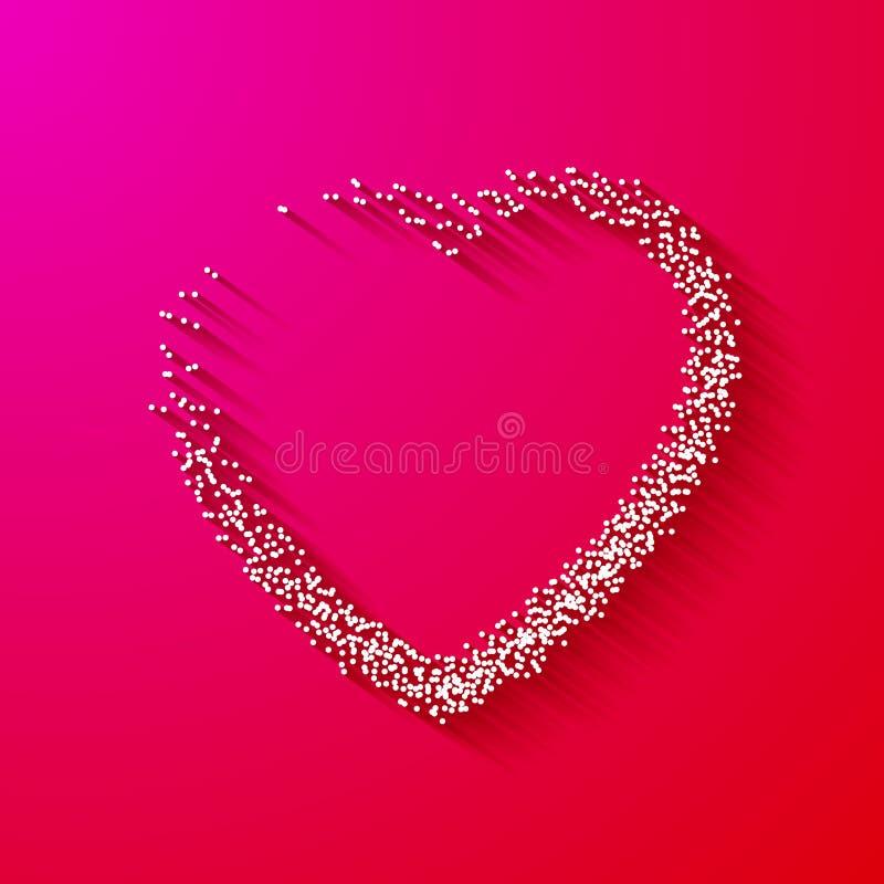 Valentine Dot Background avec la forme de coeur sur le rose Histoire d'amour Fond heureux de Valentine Day Holiday illustration libre de droits